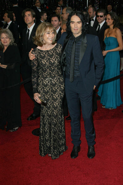 Russell Brand, Mother Barbara Oscars 2011 Pictures: 83rd Academy Awards Red Carpet Photos, Pics ...